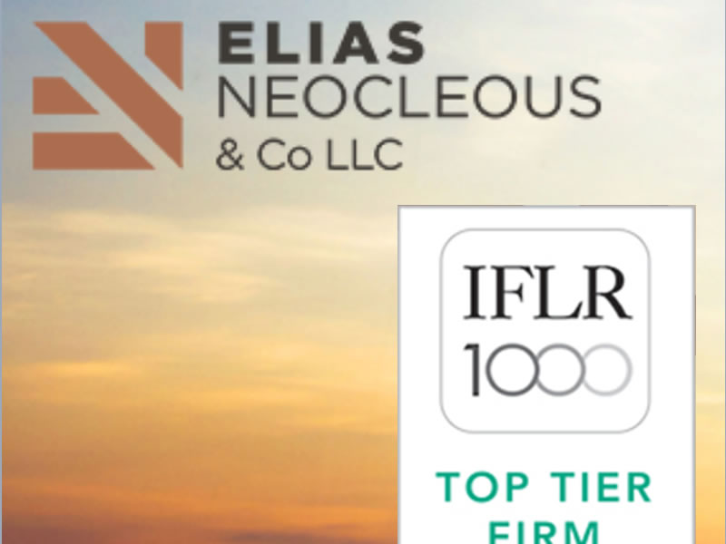 Interview with Elias Neocleous, Managing Partner @ Elias Neocleous & Co LLC