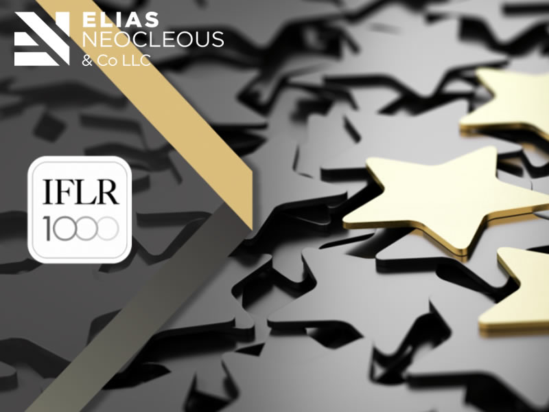 IFLR100 financial and corporate rankings place Elias Neocleous & Co LLC as 'Tier 1' legal firm