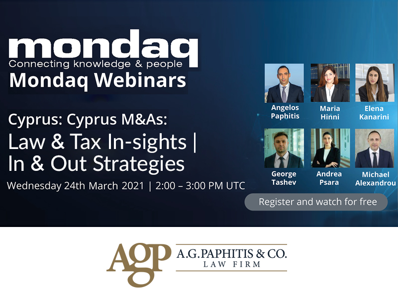 Webinar: Cyprus M&As: Law & Tax Insights | In & Out Strategies