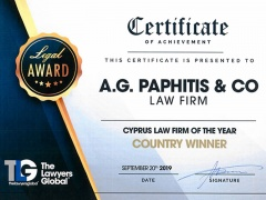 AGP Law Firm has been awarded and ranked at The Lawyers Global as Winner