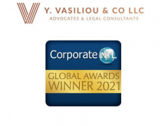 Vasiliou Law - Chosen Winners of the 2021 Corporate INTL Magazine Global Awards