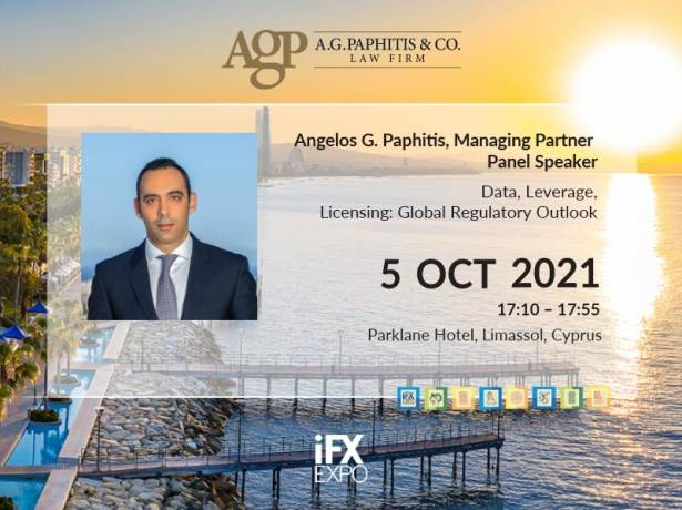 Managing Partner of A.G. Paphitis & Co. to Speak at iFX EXPO International 2021