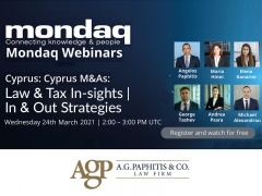 Webinar: Cyprus M&As: Law & Tax Insights   In & Out Strategies